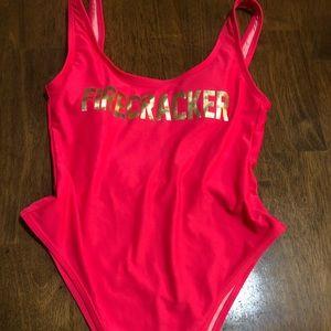 """One piece High Cut """"Firecracker"""" bathing suit"""